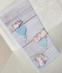 Kartka ze świnkami